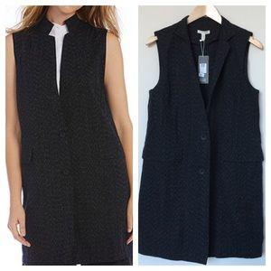 Eileen Fisher High Collar Long Vest
